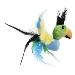 BUBA Pluszowa papuga z piórami