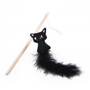 BUBA Wędka z czarnym kotem...